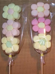 Marshmallows flores deco