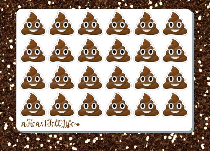 Blank Calendar Emoji : Happy poop emoji planner stickers erin condren