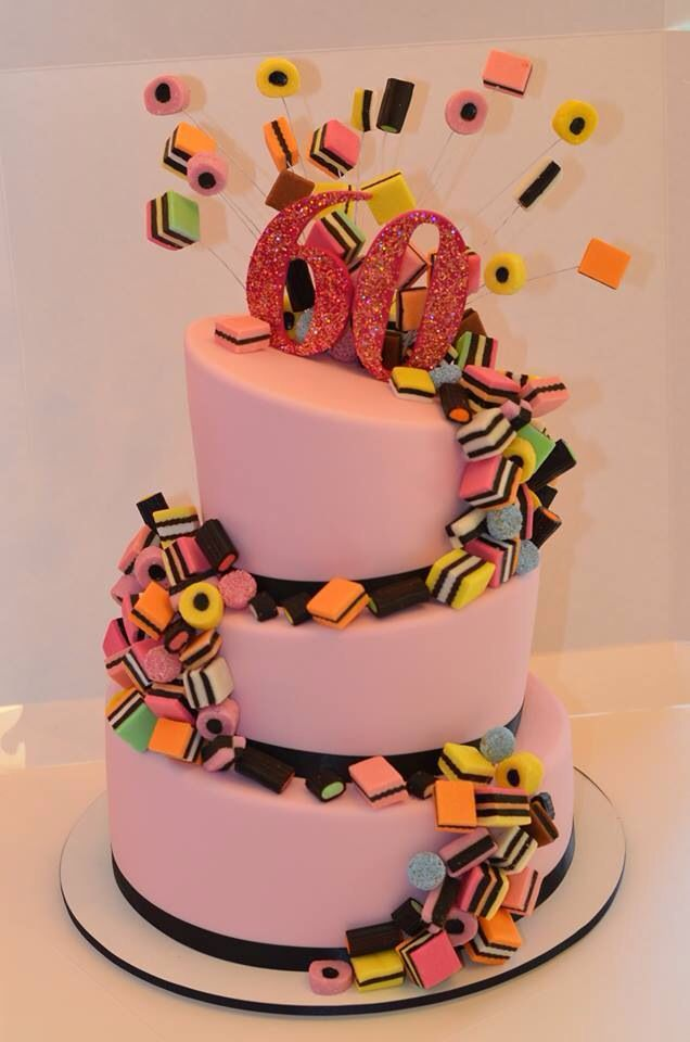 Licorice all sorts cake