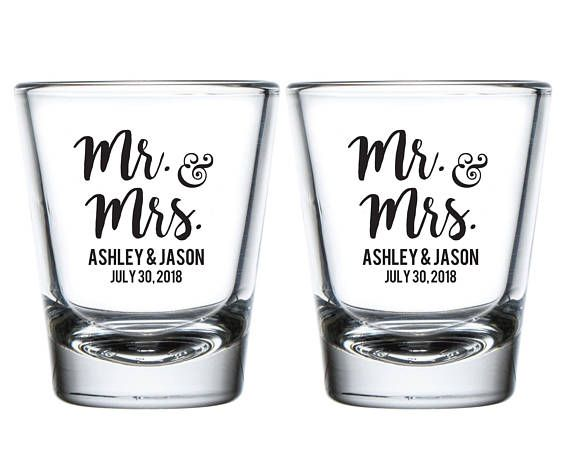 Wedding Shot Glasses.Mr And Mrs Wedding Shot Glasses Mr And Mrs Personalized