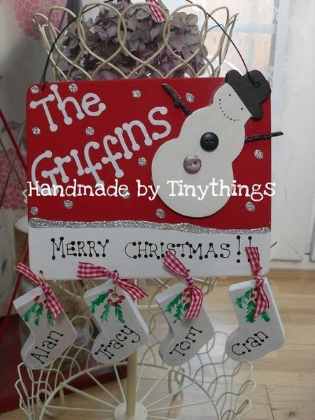 Christmas Family Plaque Projects To Try Pinterest