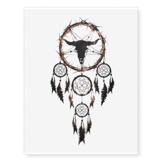 dreamcatcher - pentagram temporary tattoo   created by cglightNingART / RespawnLARPer  #halloween #dreamcatcher #pentagram #shaman #tattoo #temporary