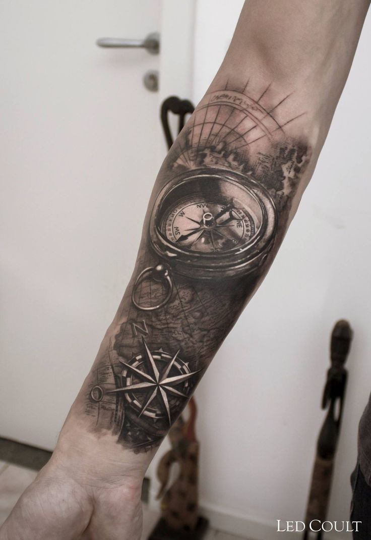 Forearm Compass Tattoo: Thoughts For Back/neck