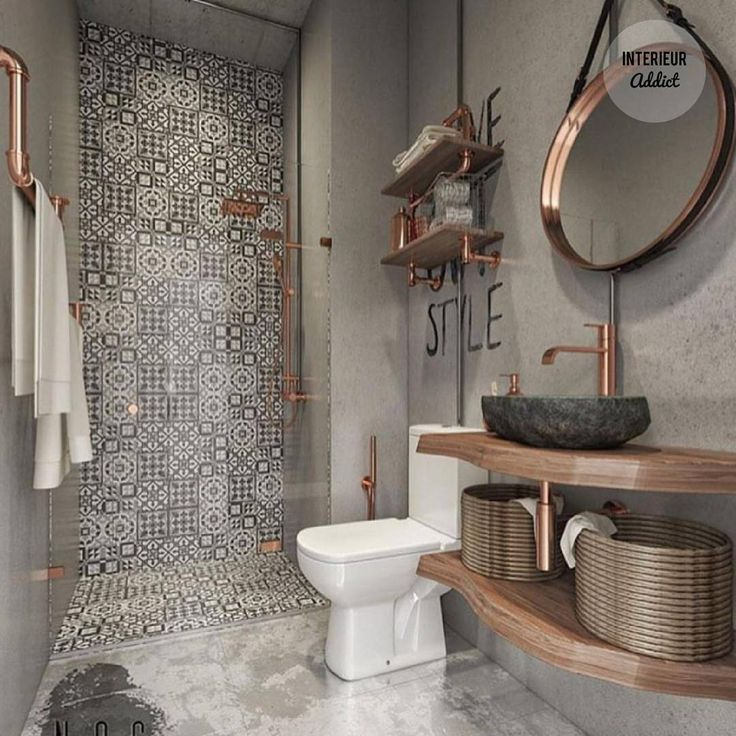 """1,700 Likes, 30 Comments - Interior Addict (@interieuraddict) on Instagram: """"This bathroom is PERFECT❤ . . . . . #bathroomdesign #bathroomdecor #bathroom #bathroominspo…"""""""