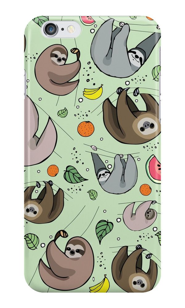 Sloth Party by Nemki. Sloth art on your phone!