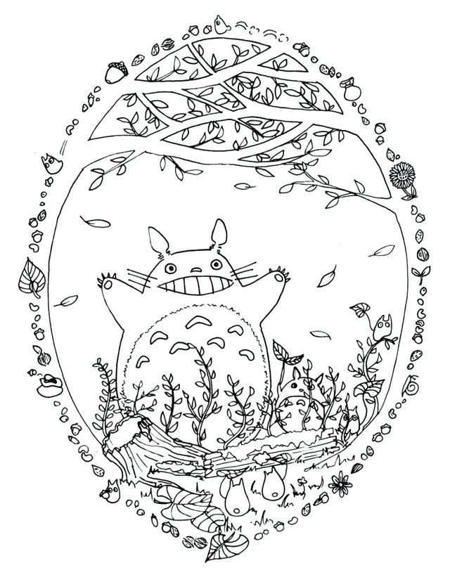Totoro Coloring Pages At Getdrawings Free Download In 2020 Totoro Art Coloring Pages Ghibli Art