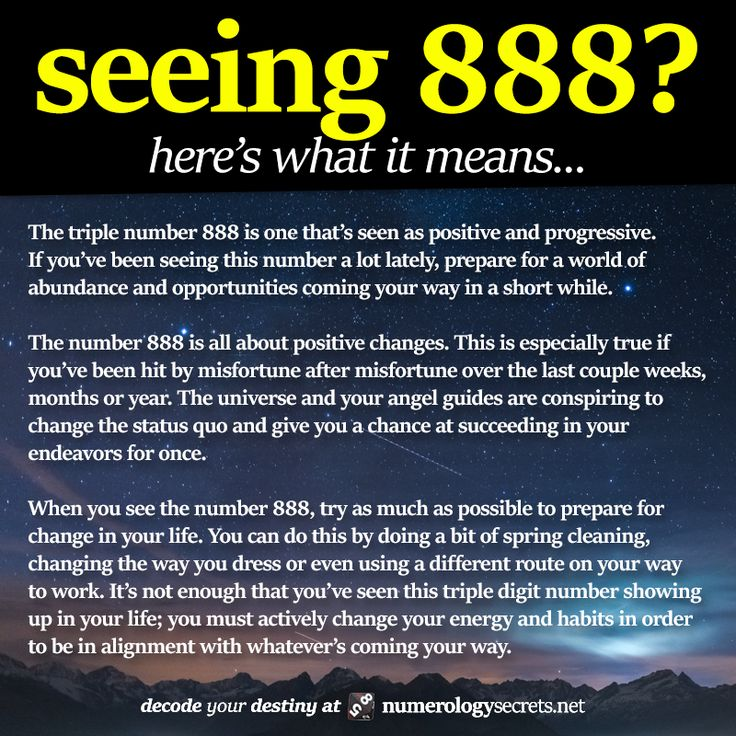 ∆ Numbers... Seeing 888? Learn more at http://numerologysecrets.net/numerology-888-meaning/