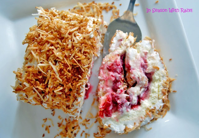 Pavlova Roll With Toasted Coconut