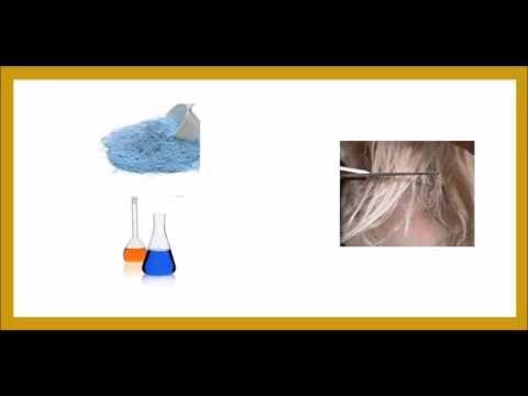 Las mezclas de polvos decolorantes, bicarbonato y peróxido de hidrógeno - YouTube