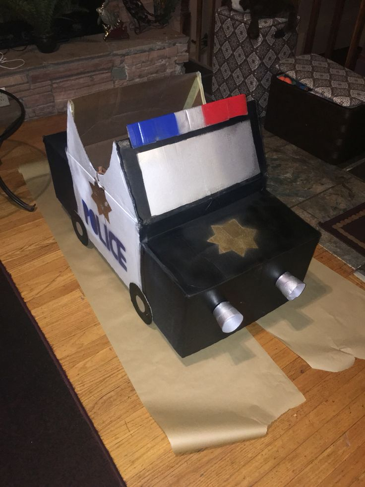 Police Car Out Of Cardboard Boxes Craft Pinterest