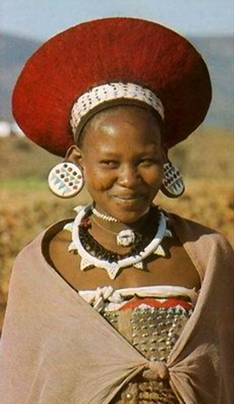 """Africa   Young Zulu woman. South Africa    From the publication """"South African Tribal Life Today"""" Published in 1984. Ben Levitas (Author) and Jean Morris (Photographer). Page 45."""