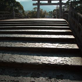 stone gate | warei shrine | uwajima | ehime | shikoku | japan