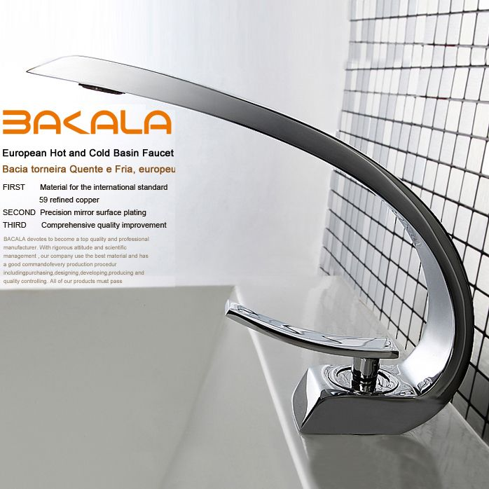 Cheap single shower faucet, Buy Quality single handle bathroom faucet directly from China faucet bathroom Suppliers:   BAKALA modern washbasin design Bathroom faucet mixer waterfall Hot and Cold Water taps for basin