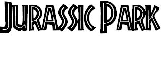 FREE Jurassic Park font. Use for dinosaur party decorations, invites, bunting, food labels......