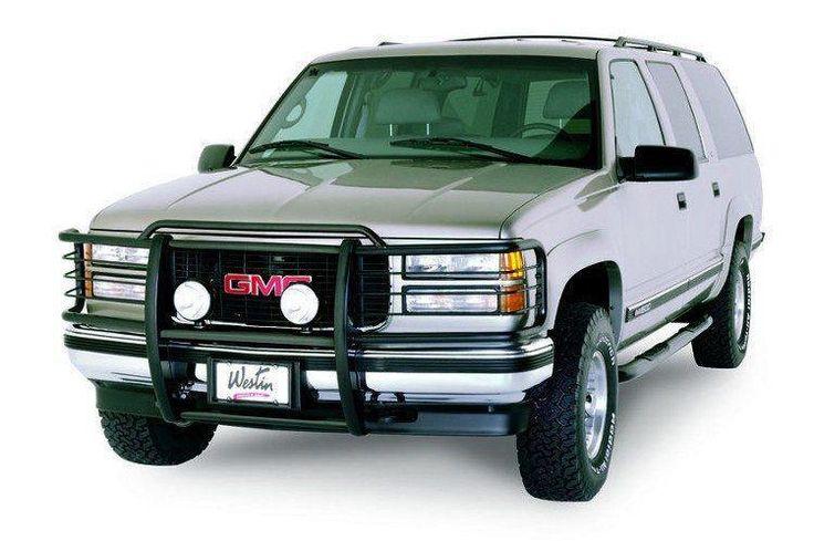 Westin 40-0335 GMC Yukon and Yukon XL 2000-2006 Sportsman Grille Black Single Hood Bar
