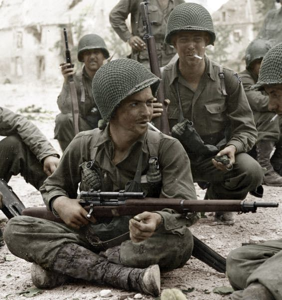 U.S. Army Sniper - France 1944 WW2 - 1903A4 rifle