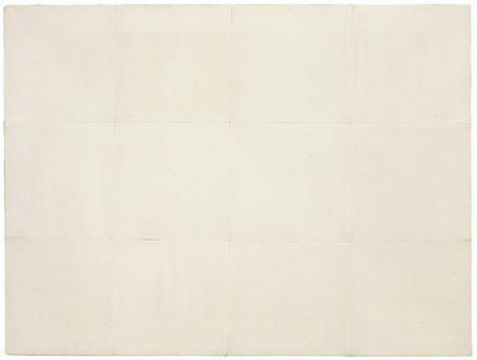 Piero Manzoni Achrome Caolino su tela cucita a riquadri, cm. 60,5x80,5 Stima € 220.000 / 320.000 lotto 462