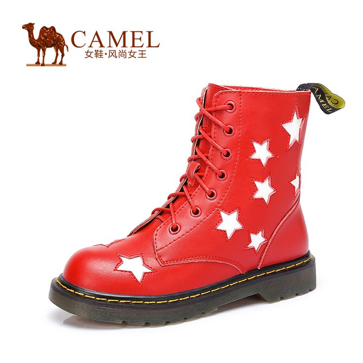 >> Click to Buy << Camel Women's  Boots Cow Split Black Red Color Fashion Girl Boots Durable Flat Boots a54220600 #Affiliate