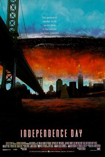 Independence Day, In my opinion the last great alien invasion film done in the spirit of the alien sci-fi/horror films of the 50s.