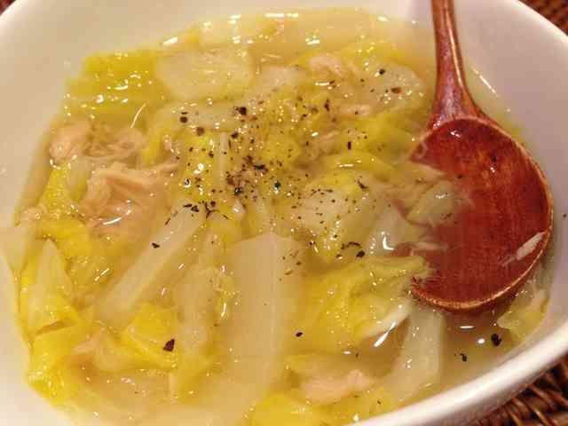 簡単❤トロトロ白菜とツナのコンソメスープの画像