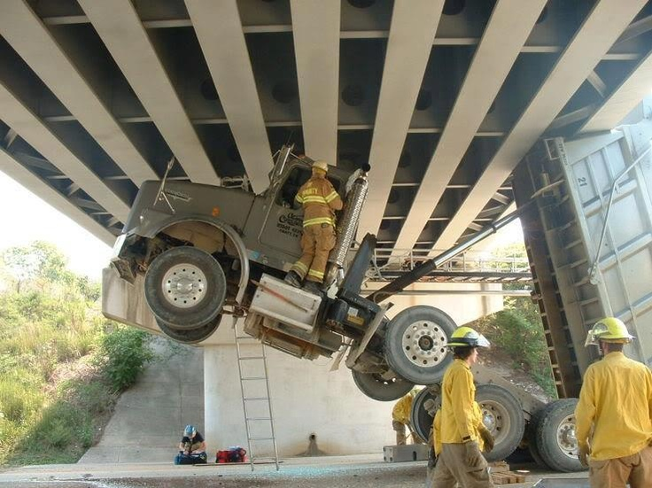 That there is quite the extrication scenario...watch that first step.