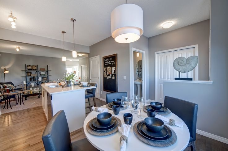 Dining room design from our Arden showhome in Canals Landing, Airdrie.