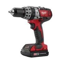 Milwaukee 18v Lithium Ion Cordless Compact Impact Drill #C18PD-22C  Features: • Milwaukee's high performance 4 pole motor delivers maximum power whilst (optimising) maximising the power to weight ratio • Full metal gear box delivers maximum performance and long life • Compact ergonomic design offers excellent handling • Hammer mechanism delivers 29,000 BPM for highly effective masonry drilling • Overall length 216mm • Full metal chuck • LED Light & fuel Gauge