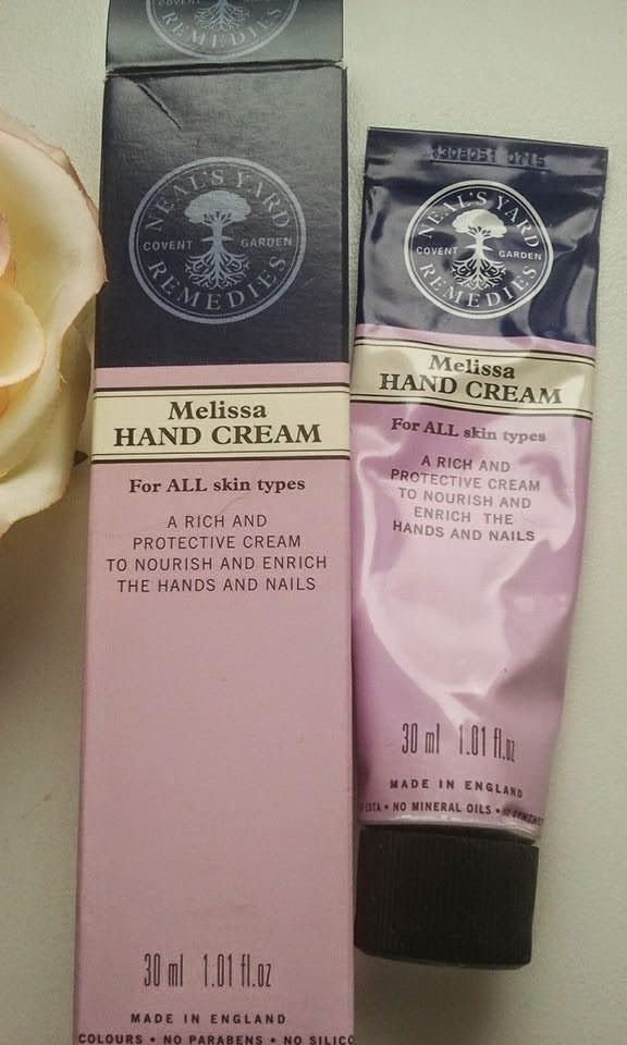 Joanna's cosmetics: Neal's Yard Remedies Melissa Hand Cream. Review.