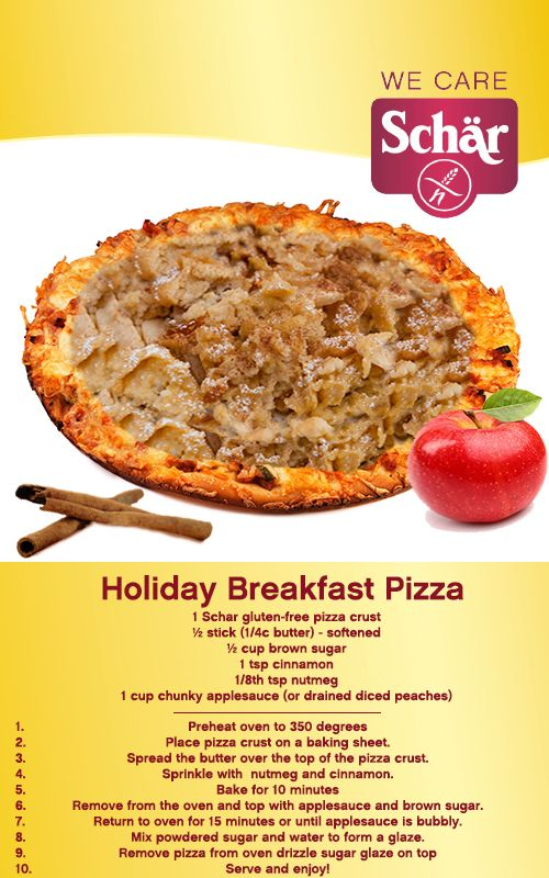 A gluten-free holiday pizza. Use apples or peaches, and enjoy this sinfully delicious treat.