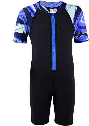 Amazing offer on Tuga Boys Thermal Shorty 1.5mm Neoprene/Spandex Wetsuit 1-14 Years, UPF 50+ online