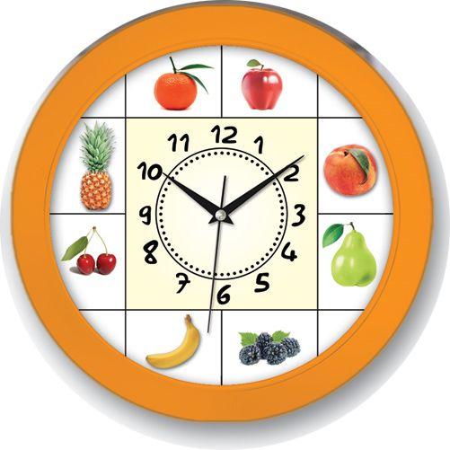 Meyveli Turuncu Renk Mutfak Duvar Saati  Ürün Bilgisi ;  Ürün maddesi : Plastik çerceve, Bombeli plastik cam Ebat : 30 x cm  Mekanizması (motoru) : Akar saniye, saat sessiz çalışır Saat motoru 5 yıl garantilidir Meyveli Turuncu Renk Mutfak Duvar Saati Yerli üretimdir Duvar Saati sağlam ve uzun ömürlüdür Kalem pil ile çalışmaktadır Gördüğünüz ürün orjinal paketinde gönderilmektedir. Sevdiklerinize hediye olarak gönderebilirsiniz