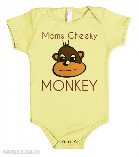 Moms Cheeky MONKEY - baby one piece tees