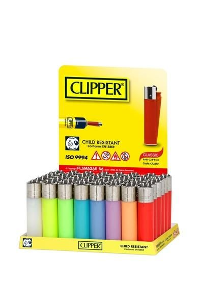 Clipper Lighter - Translucent Electronic 48's  VAT: 0%  Swiss  Clipper Electronic Translucent 48 pack