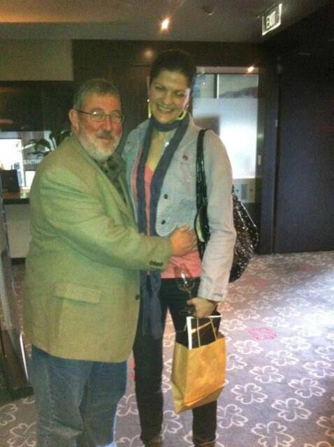 With huggable wine scribe, Winsor Dobbin at Tasmania Unbottled in Brisbane 2013 #hugwinsor #tasmaniawine