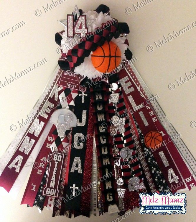 MelzMumz.com Classic Homecoming Garter Basketball Theme