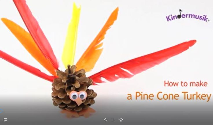 How to Make a Pine Cone Turkey
