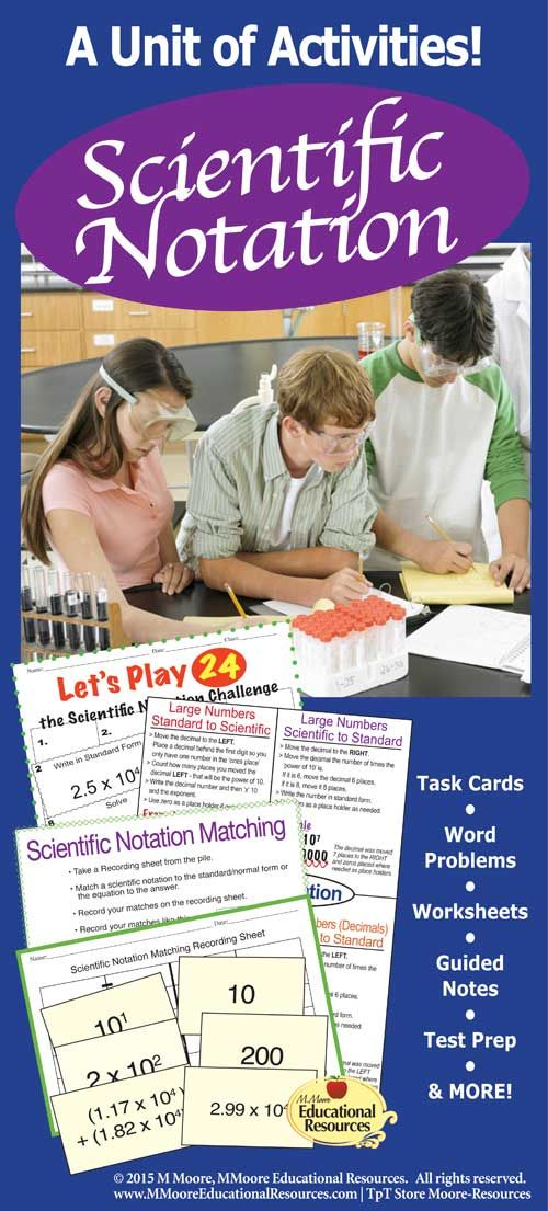 Do you wish for your students to really understand scientific notation? Then this is the 63 Page BUNDLE for your students! This bundle of activities focuses on converting numbers to scientific notation, converting scientific notation to standard form, AND