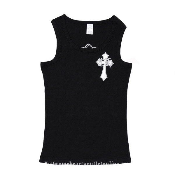 White Leather Chrome Hearts Cross Men's Tank Top [Chrome Hearts Short T-shirt] - $129.00 : Buy Chrome Hearts | Chrome Hearts Online