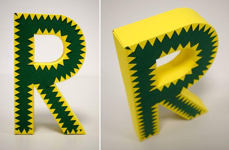 3D betű / 3D letter