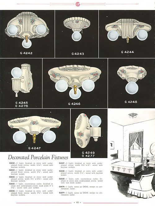 1920s Bathroom Light Fixtures
