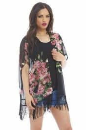 Kimonos look awesome at festivals and have recently been worn by all the celebs at Coachella - Kendall & Kylie Jenner, Selena Gomez & Vanessa Hudgens to name just a few. This floral number will look great at any festival, throw over anything for a layer of warmth whilst the tassels fit the festival vibe perfectly!  Shop now at AX Paris
