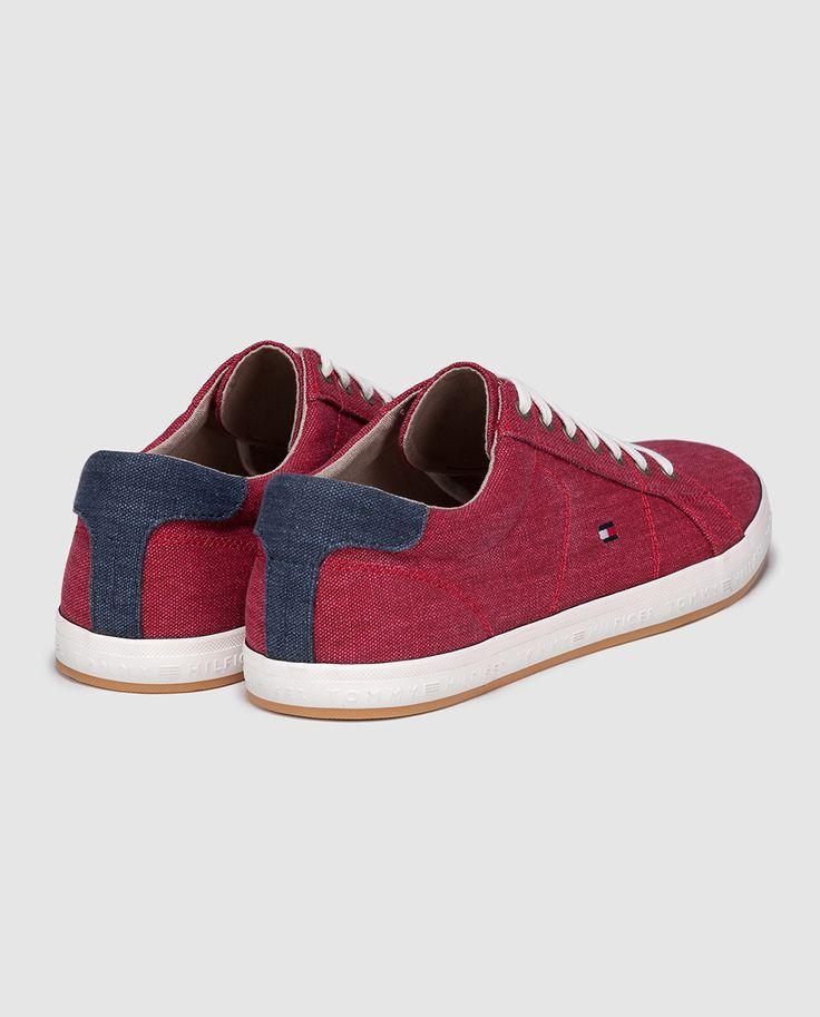 Zapatillas de lona de hombre Tommy Hilfiger rojas con logo bandera · Tommy Hilfiger · Moda · El Corte Inglés