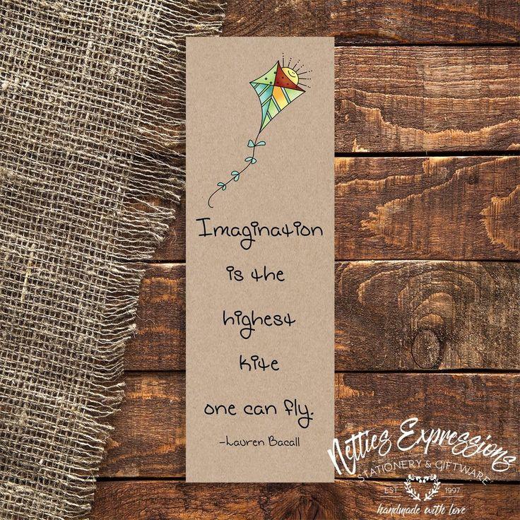 Imagination is the highest kite - Bookmark