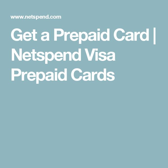 Get a Prepaid Card | Netspend Visa Prepaid Cards | Gift card free ...
