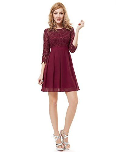 Ever Pretty Womens 3/4 Sleeve Lace Short Party Dress 6 US... https://www.amazon.com/dp/B00RDKNRXC/ref=cm_sw_r_pi_dp_x_3k3Jyb5FW1TXG