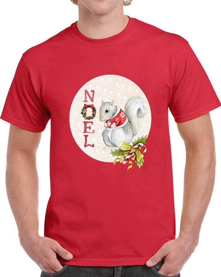 Squirrel Noel Christmas  T Shirt