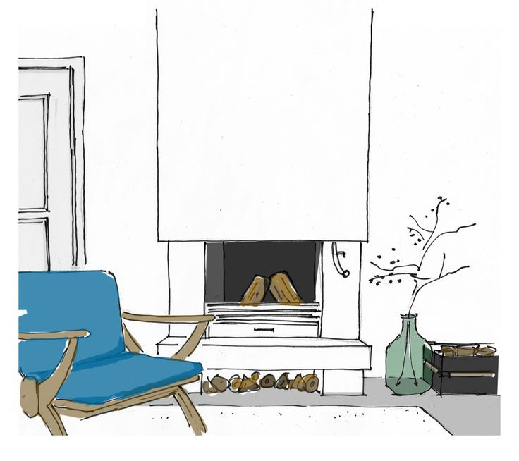 13 best interieur tekenen images on pinterest architects for Interieur tekenen