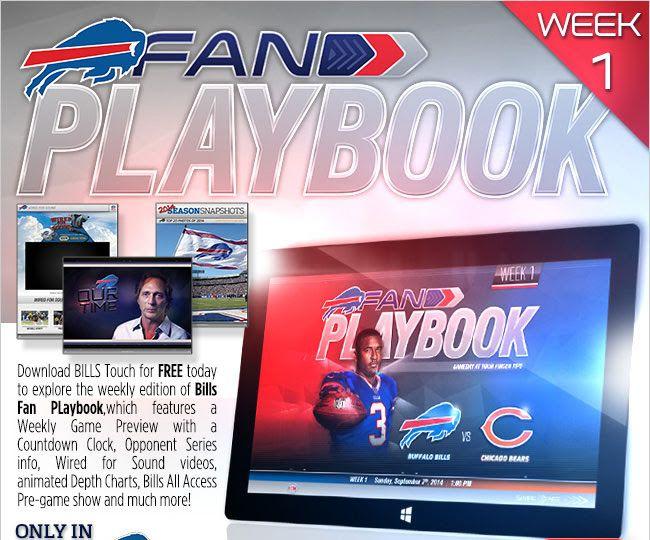 Fan Playbook neat idea from Buffallo Bills NFL