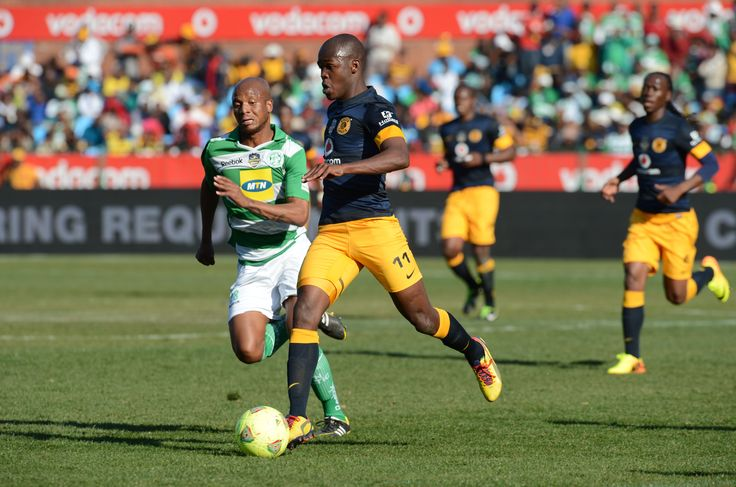 Itumeleng Duiker of Celtic and Knowledge Musona of Chiefs during the Gauteng Football Cup final match between Kaizer Chiefs and Bloemfontein Celtic from Loftus Versfeld Stadium