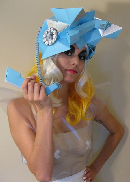 Lady Gaga Telephone Hat Replica Cosplay Costume by LeilaniJoyArt, $650.00